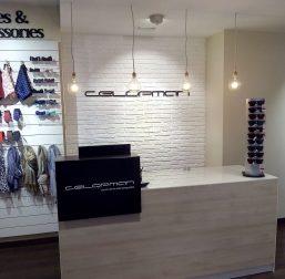 Mostrador en Tienda de Moda masculina Celopman Lucena