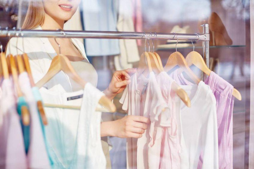Decoración nueva colección en tiendas de moda