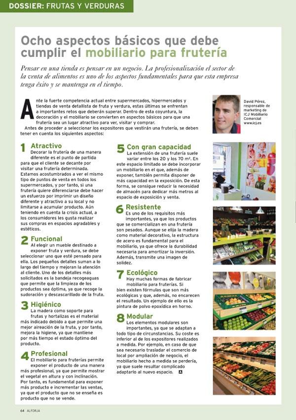 Entrevista ALFORJA n371 Julio-2012 Mobiliario fruterias