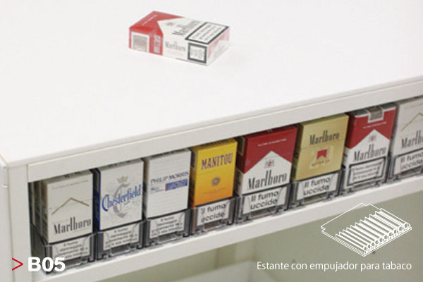 Mostrador B05 Estantes para Tabaco