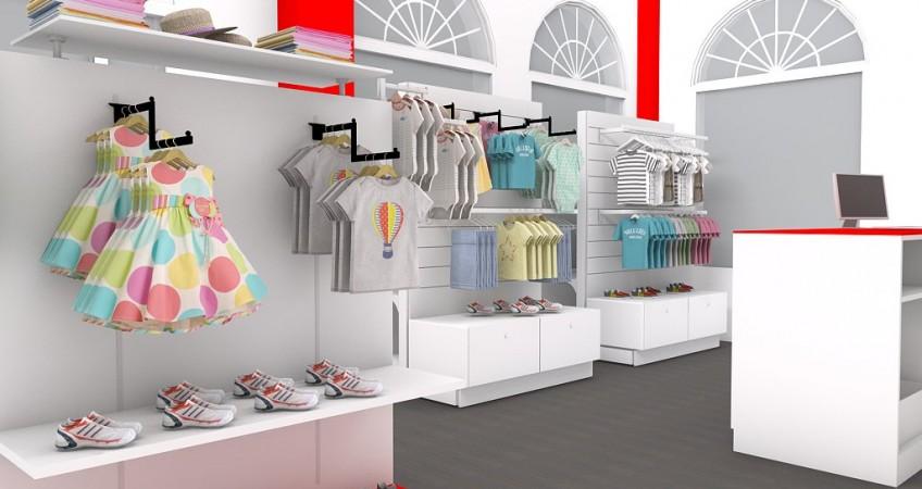 Proyecto mobiliario tienda infantil bambini granada for Decoracion de almacenes de ropa