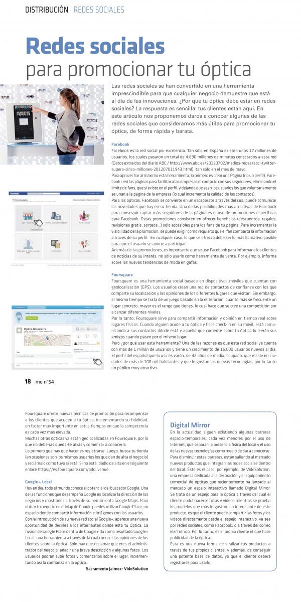 Artículo Redes Sociales para Promocionar su Óptica