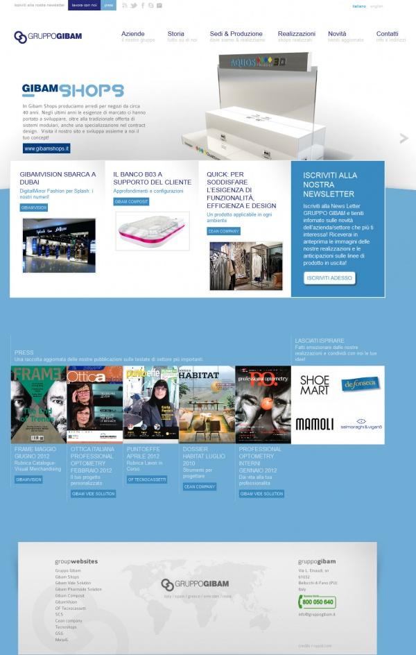 Nueva Web del Fabricante Gruppo Gibam en Italia